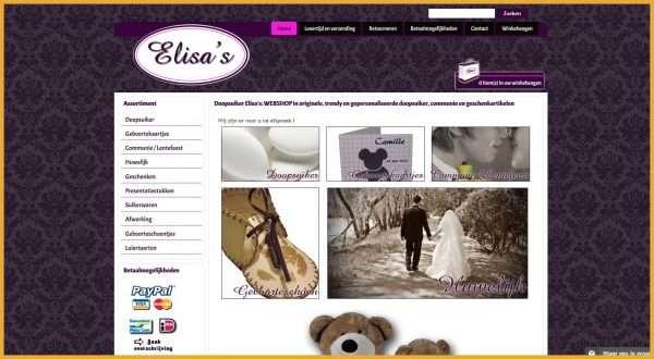 Doopsuiker Elisa's – webwinkel